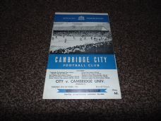 Cambridge City v Cambridge University, 1964/65 [Fr]